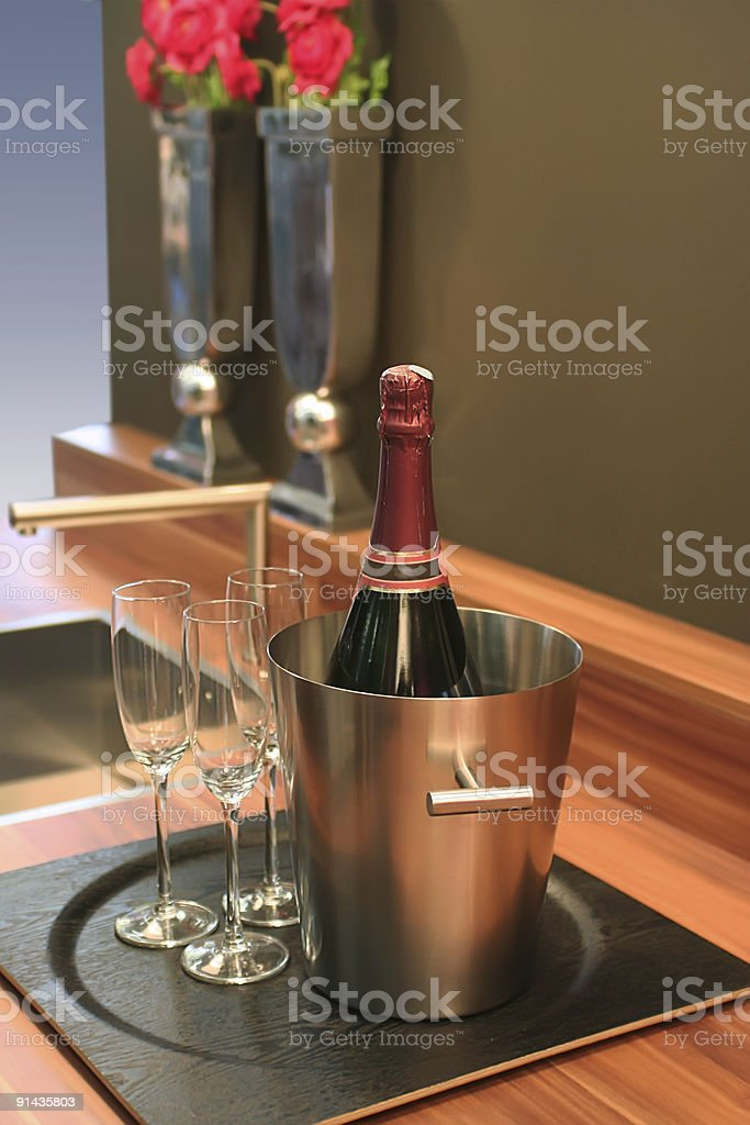 bottle for party royalty-free stock photo