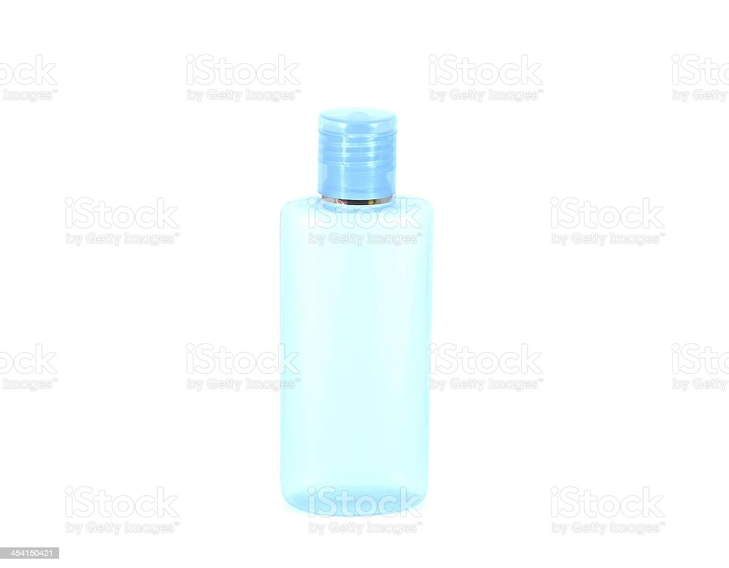 Bottle for shampoo or toiletries .isolate on white. royalty-free stock photo