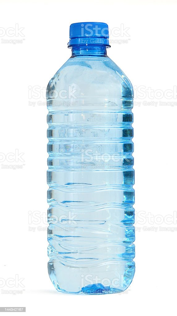 bottle full of water stock photo