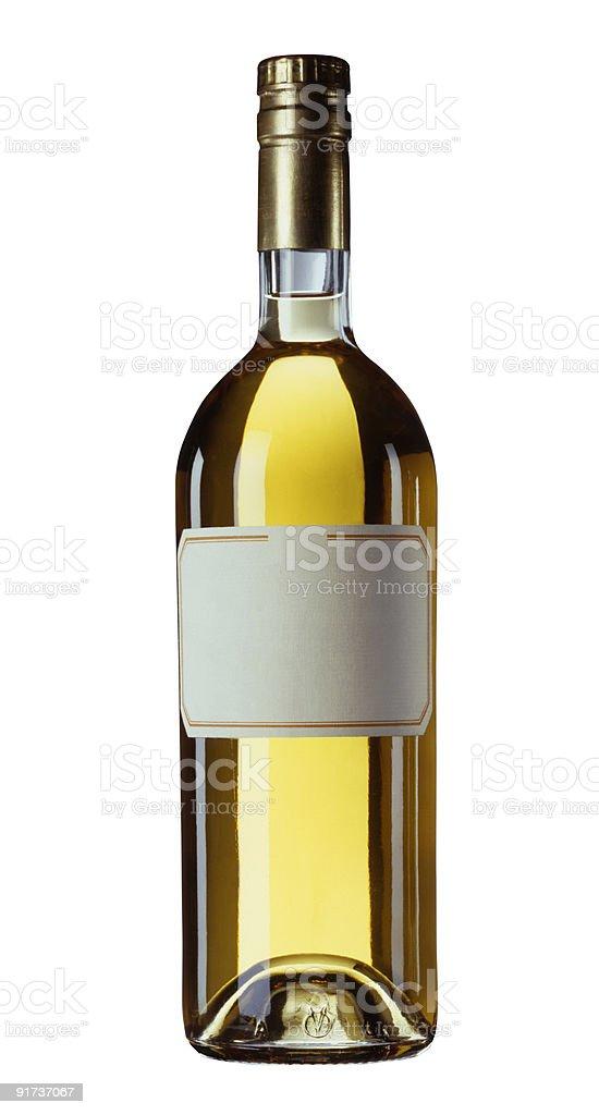 Bouteille isolé avec étiquette vierge pour texte ou un logo. photo libre de droits