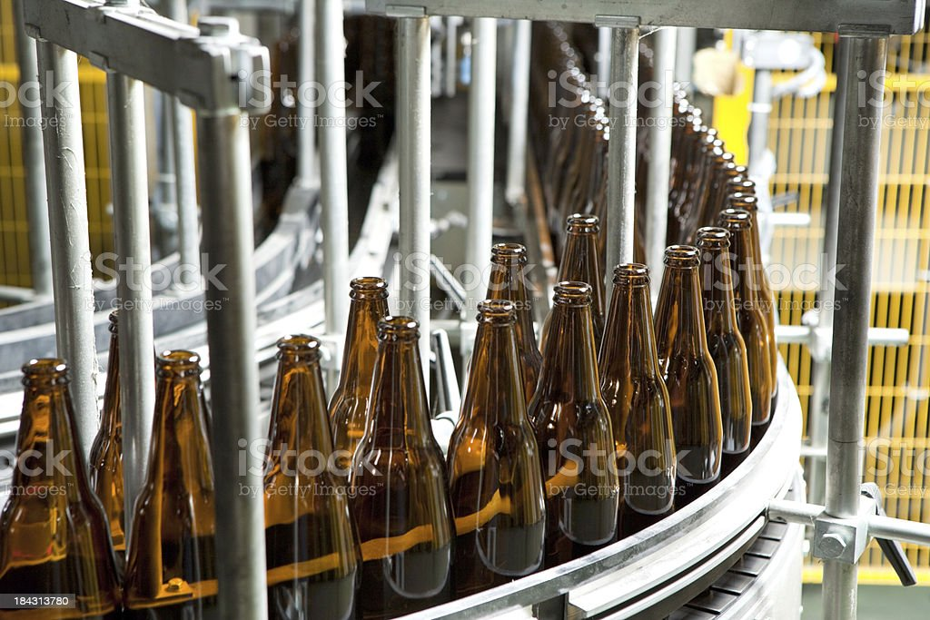 Bottle Manufacturing stock photo