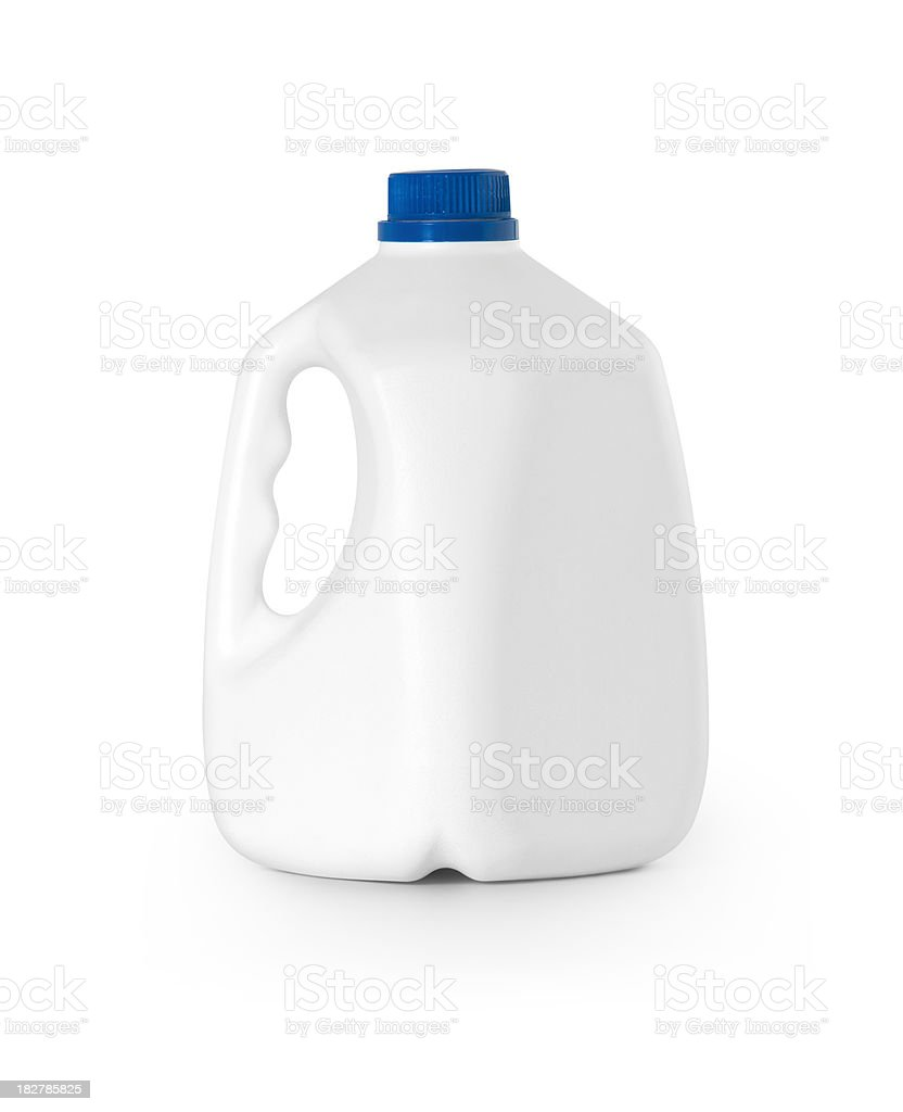 Bottle Milk w/clipping path royalty-free stock photo
