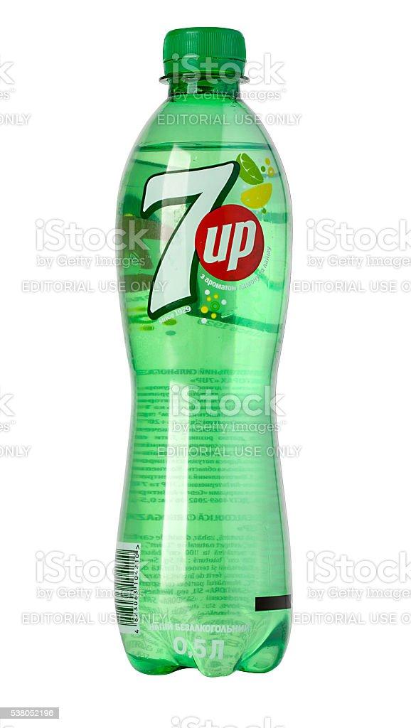 Bottle of 7up Soda stock photo