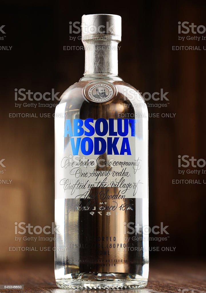 Bottle of Absolut Vodka stock photo