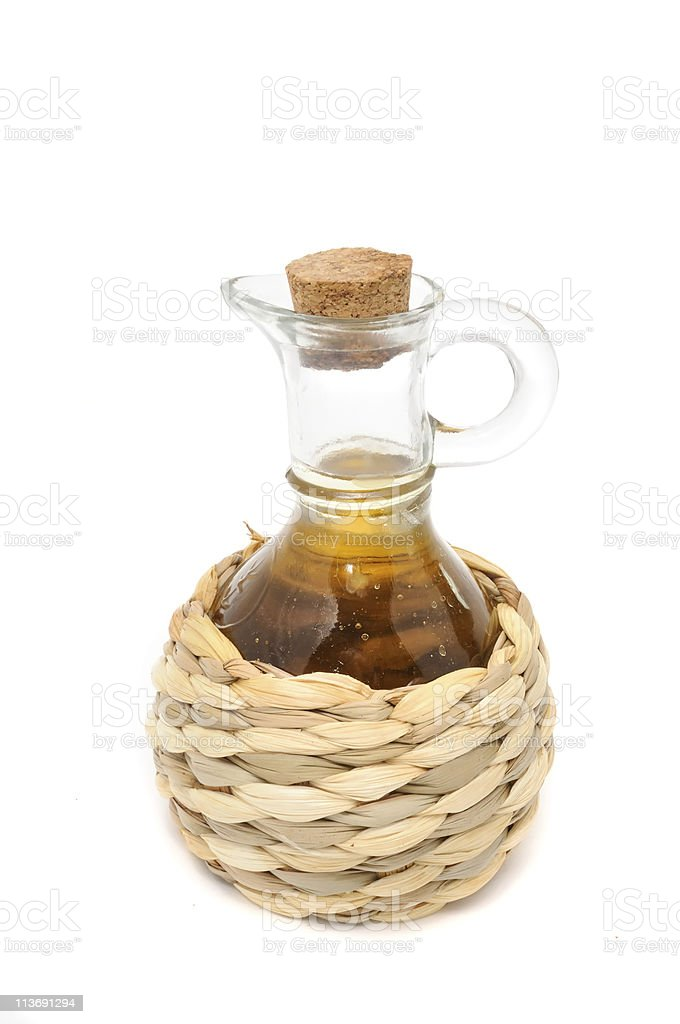 Bottle of Apple Cider Vinegar royalty-free stock photo