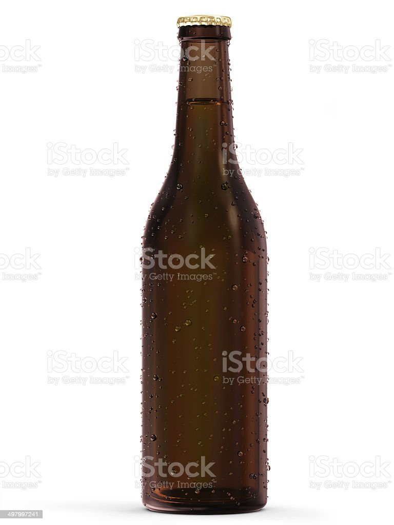 Bottle of Beer isolated on white background stock photo