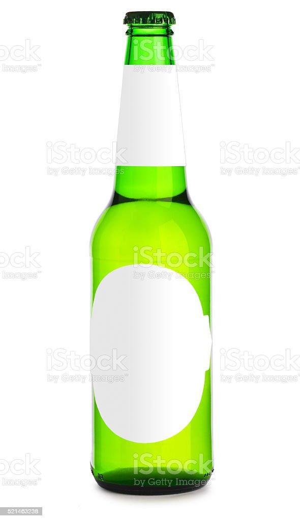 bottle of beer isolated stock photo