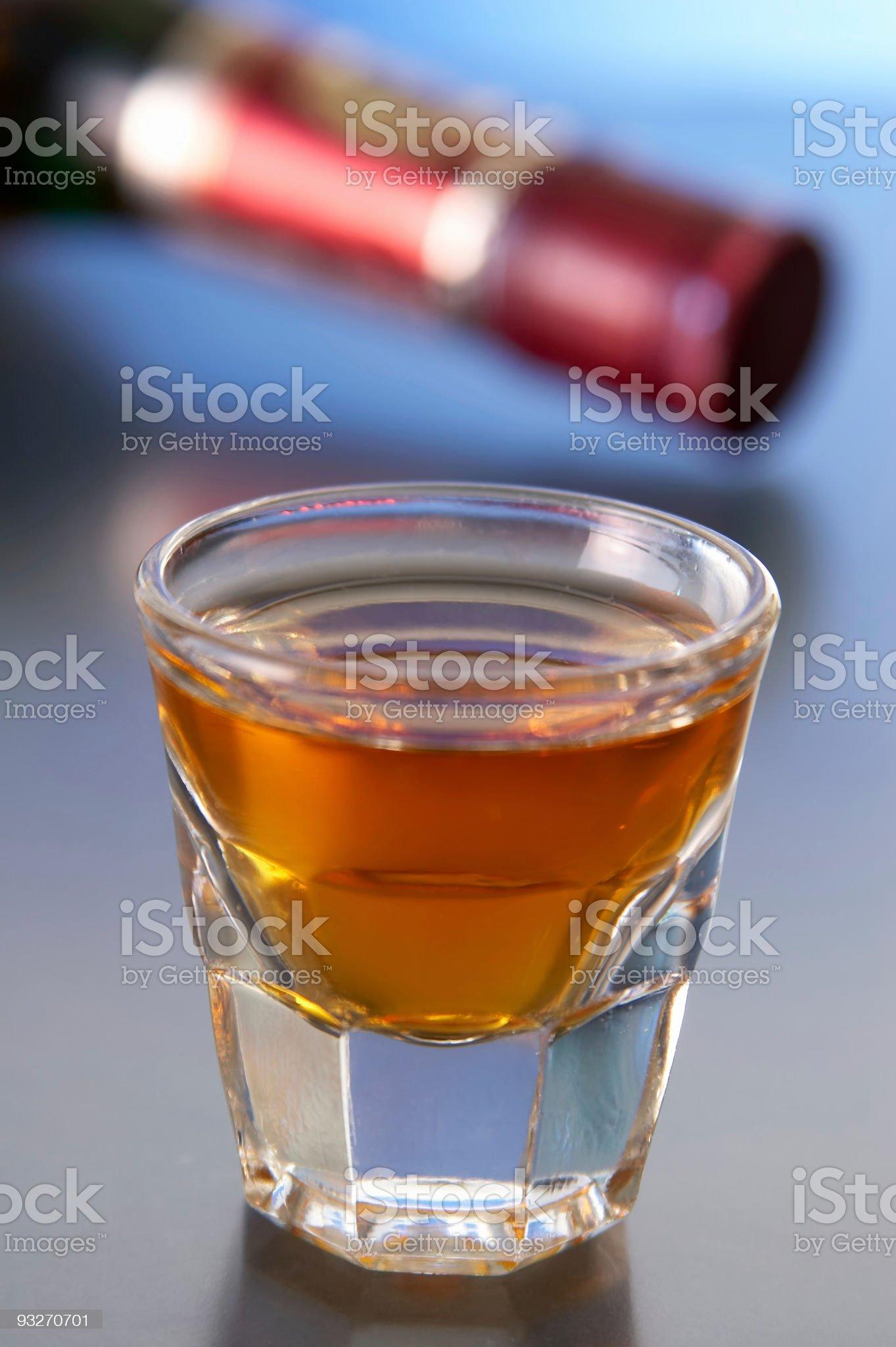 Bottle of Booze royalty-free stock photo