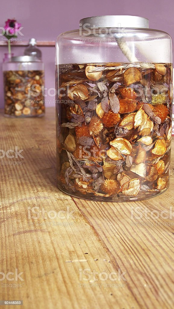 Bottle of Candle Oil royalty-free stock photo