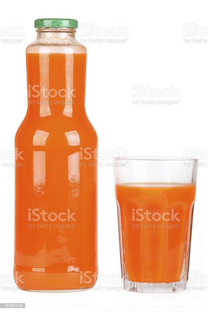 Bottle of carrot juice stock photo
