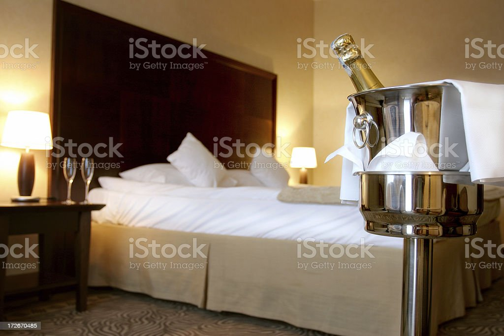 Bottle of champagne royalty-free stock photo