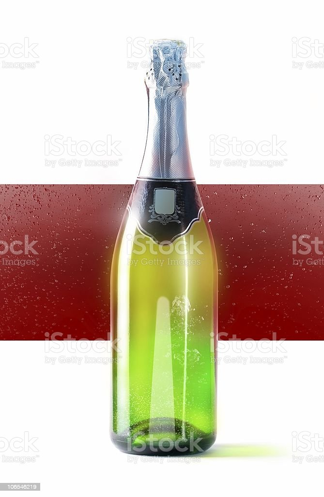Bottle of champaign stock photo