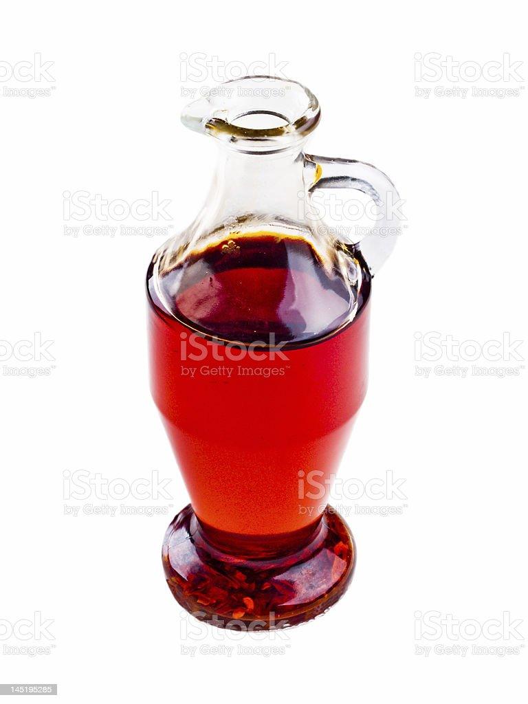 Bottle of Chili Oil stock photo
