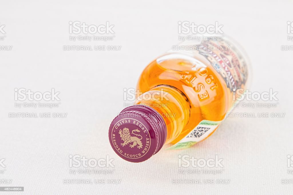 Bottle of Chivas Regal stock photo