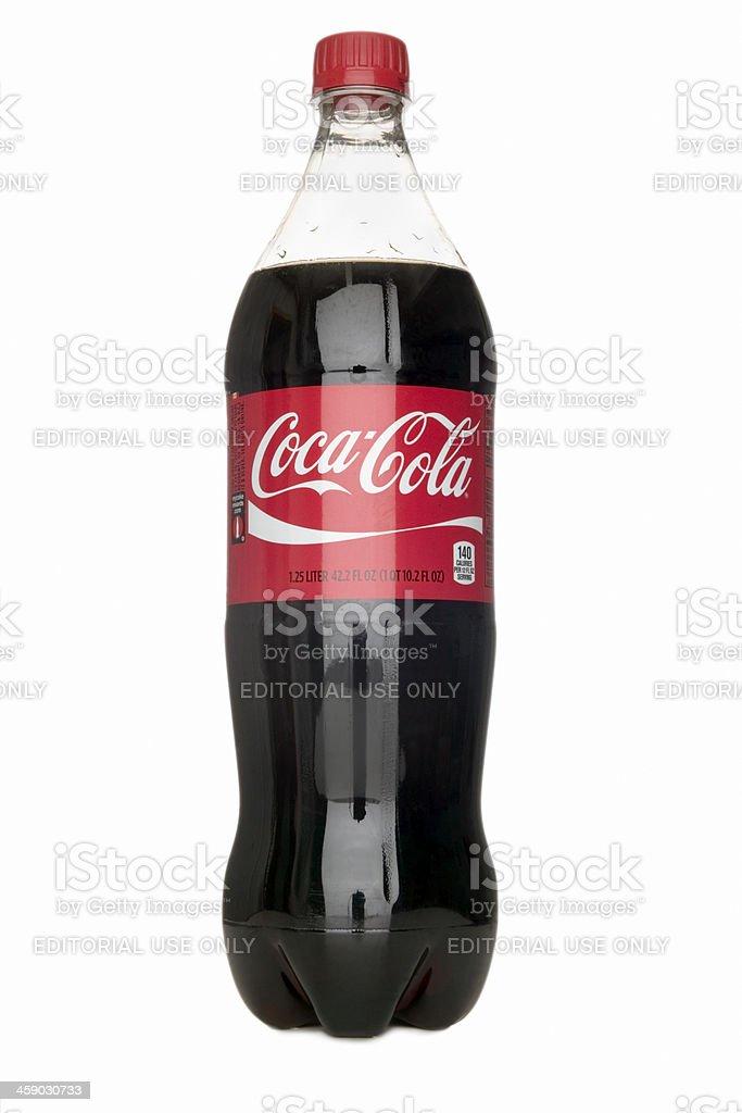 Bottle of Coca Cola stock photo