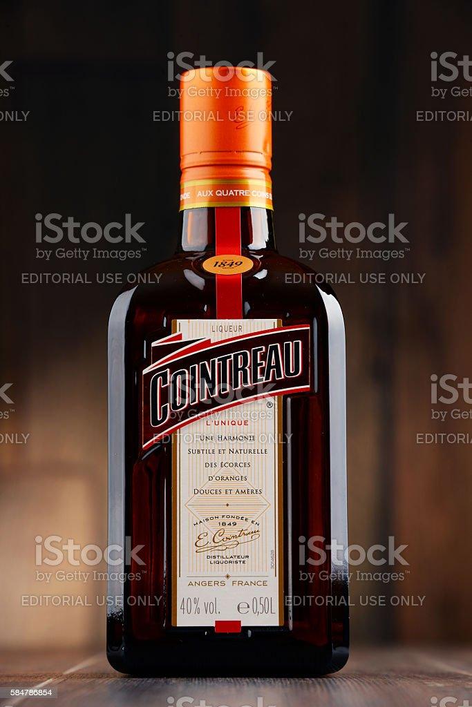 Bottle of Cointreau triple sec stock photo
