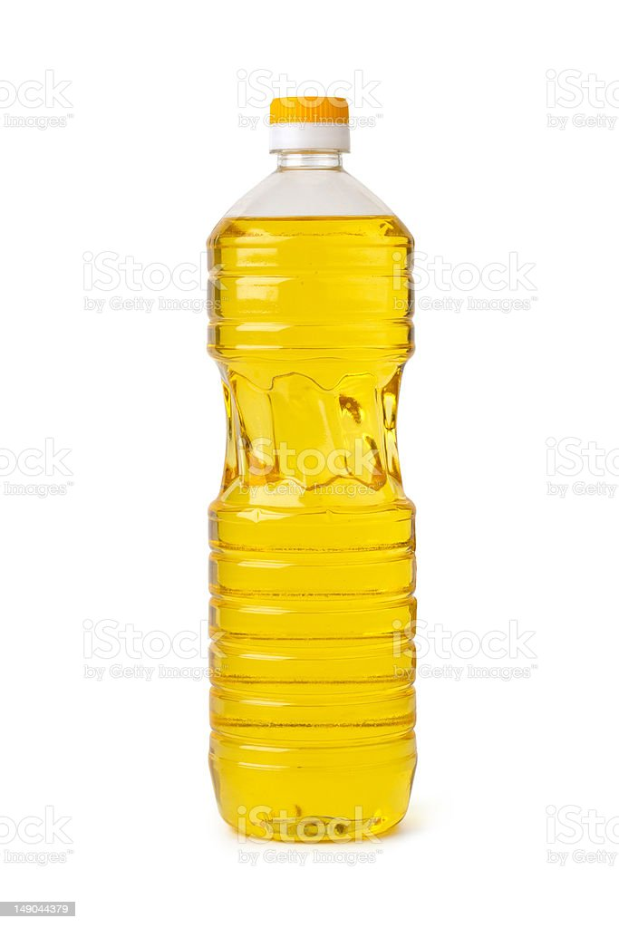 Bottle of cooking oil royalty-free stock photo