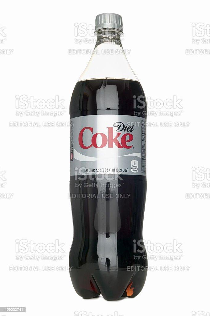 Bottle of Diet Coke stock photo