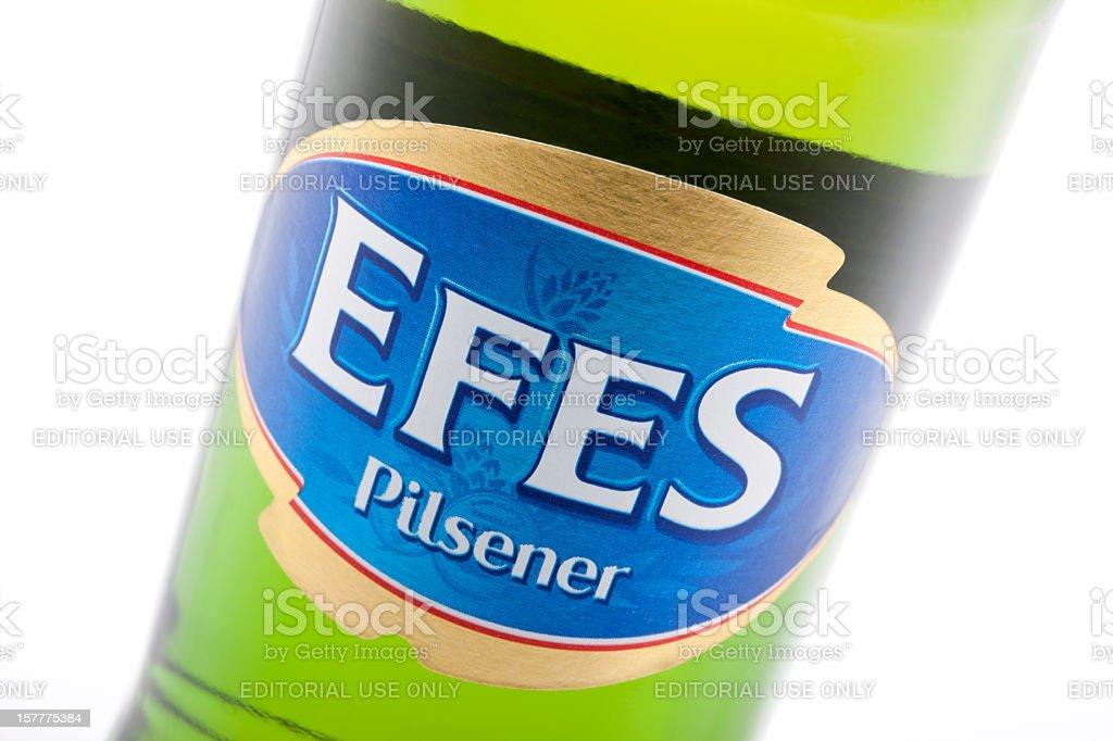 Bottle of Efes beer. stock photo