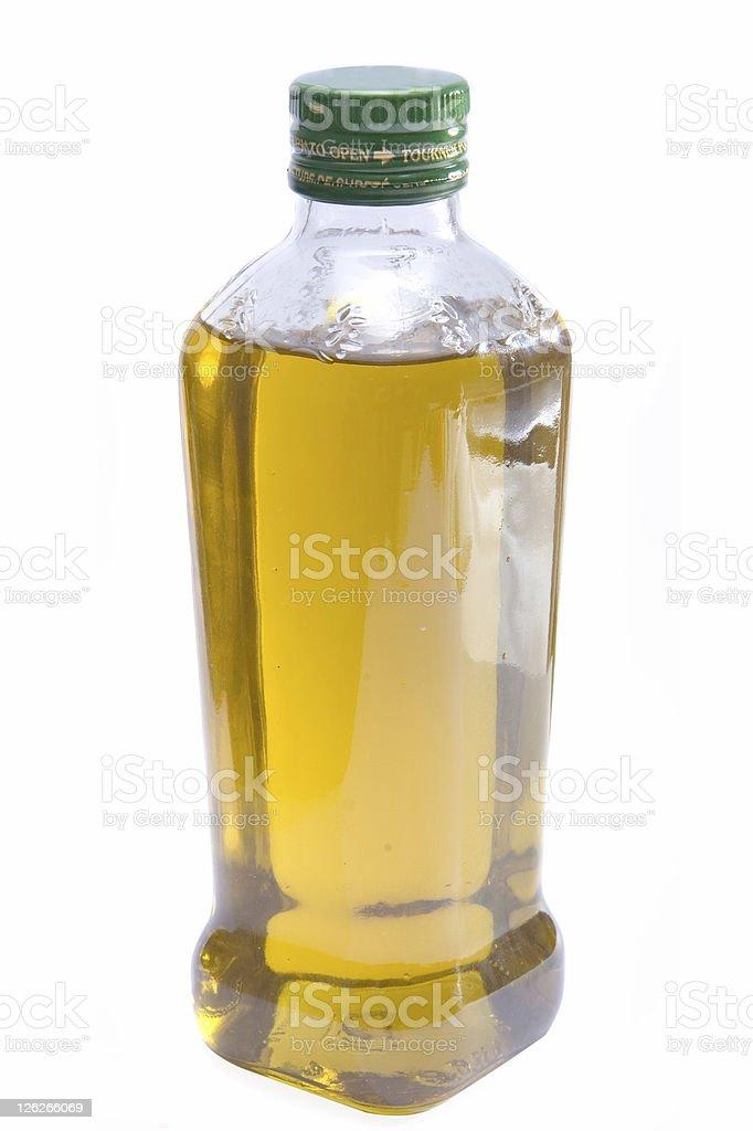 Bottle of Extra Virgin Olive Oil stock photo