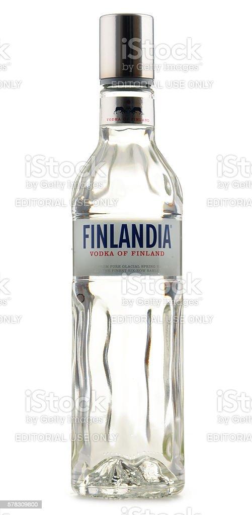 Bottle of Finlandia vodka isolated on white stock photo