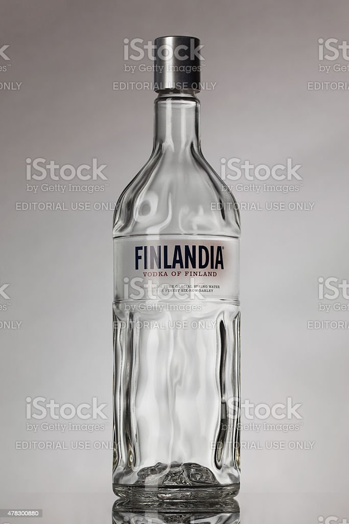 Bottle of Finlandia vodka stock photo