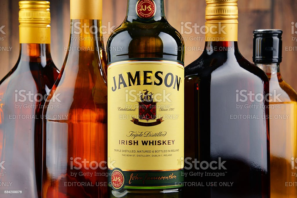 Bottle of Jameson Irish whiskey stock photo
