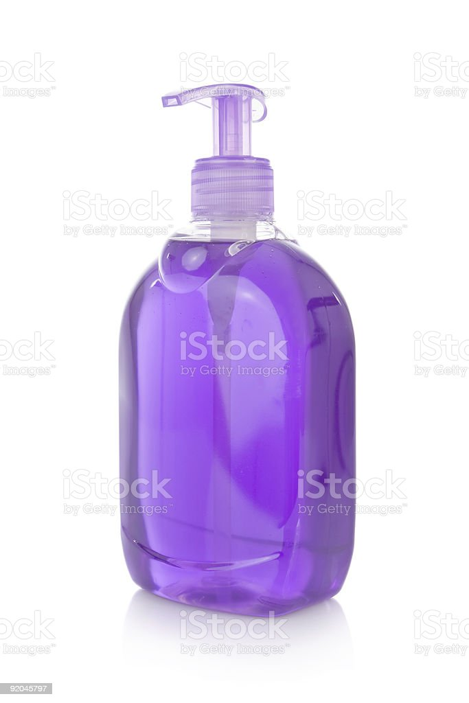 Bottle of liquid soap isolated on white royalty-free stock photo