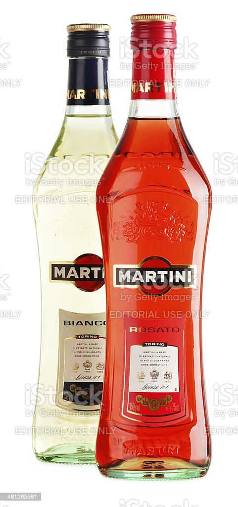 Bottle of Martini isolated on white royalty-free stock photo
