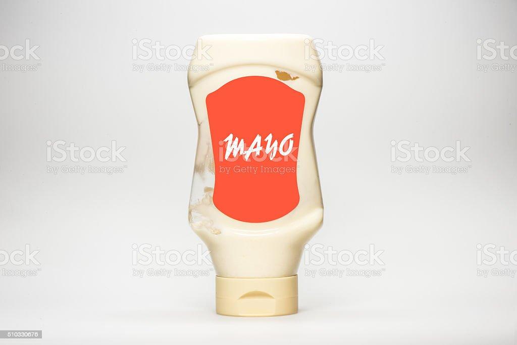 Bottle of mayonnaise stock photo