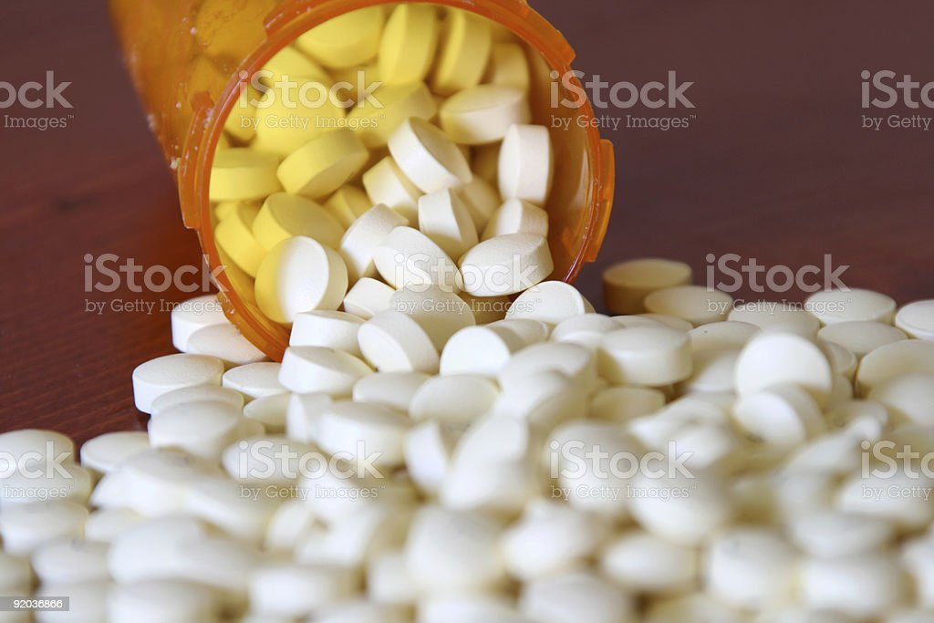 Bottle of Medicine stock photo