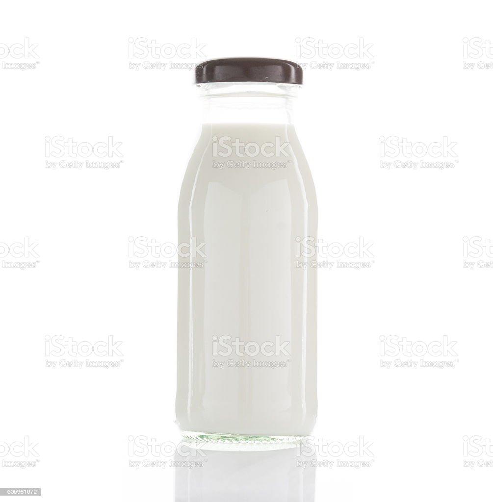 bottle of milk isolated stock photo