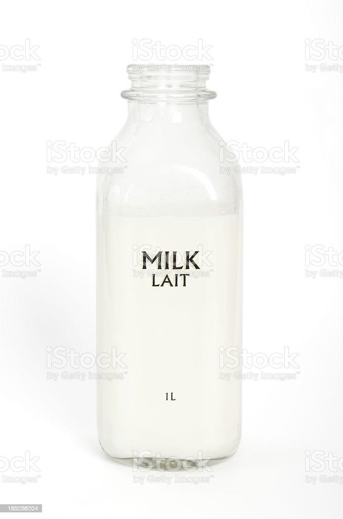 Bottle of Milk stock photo