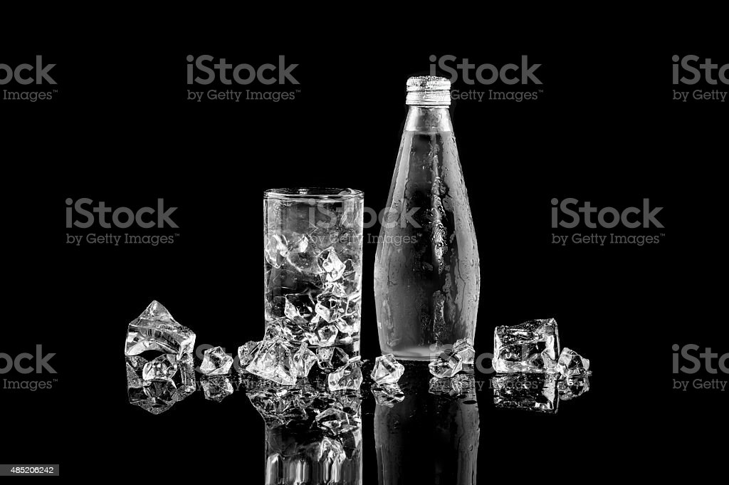 Bottle of Natural Mineral Water royalty-free stock photo