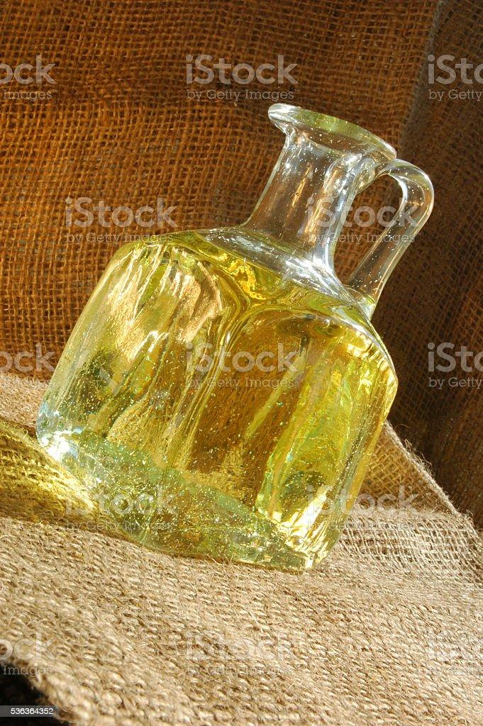 Bottle of oil stock photo