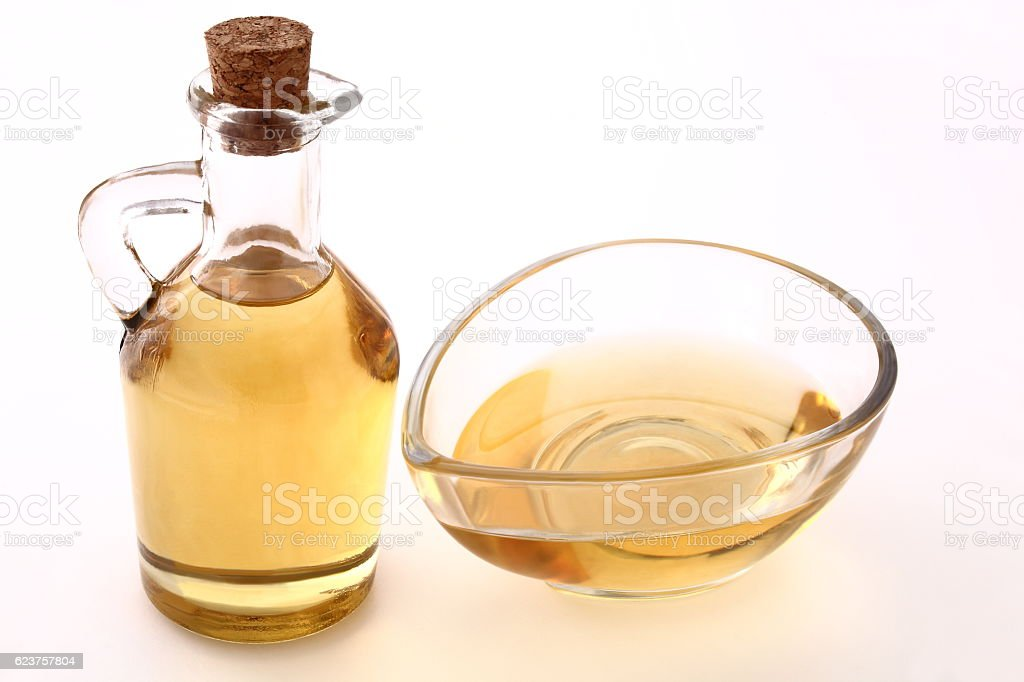 Bottle of oil stock photo