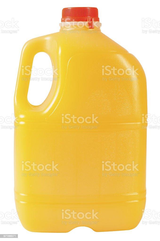 Bottle of orange juice. Isolated. stock photo