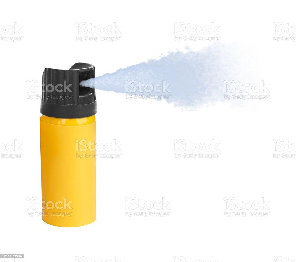Bottle of pepper spray stock photo