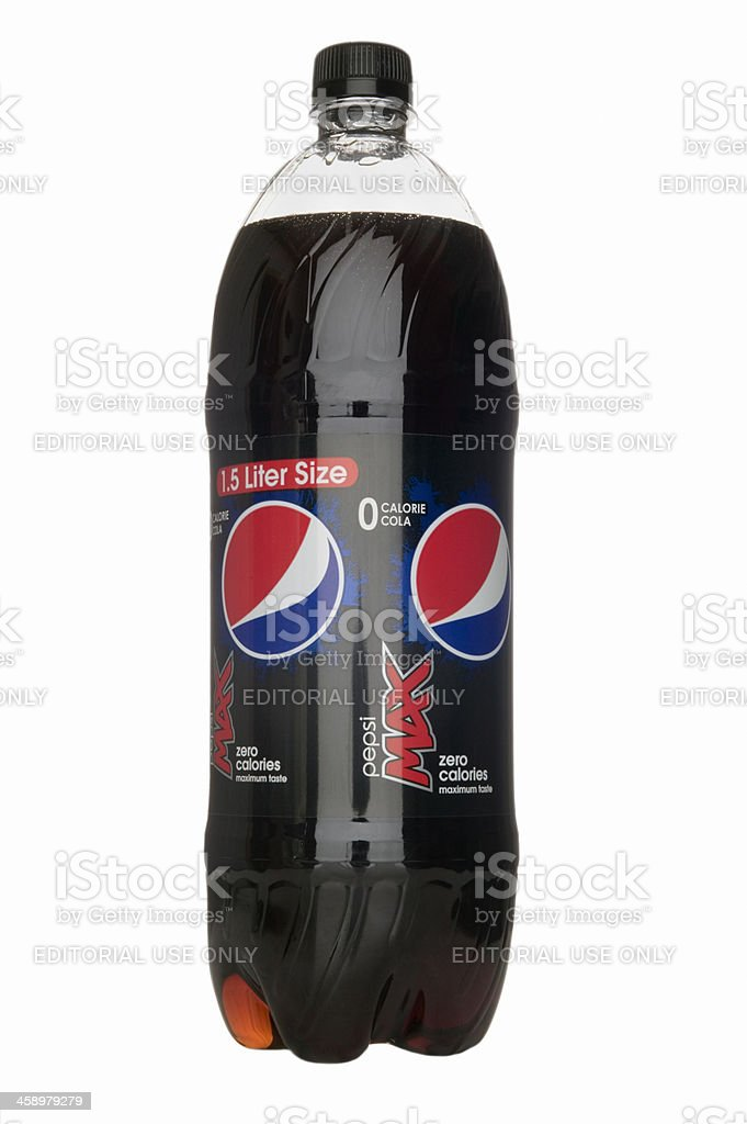 Bottle of Pepsi Max diet drink. royalty-free stock photo