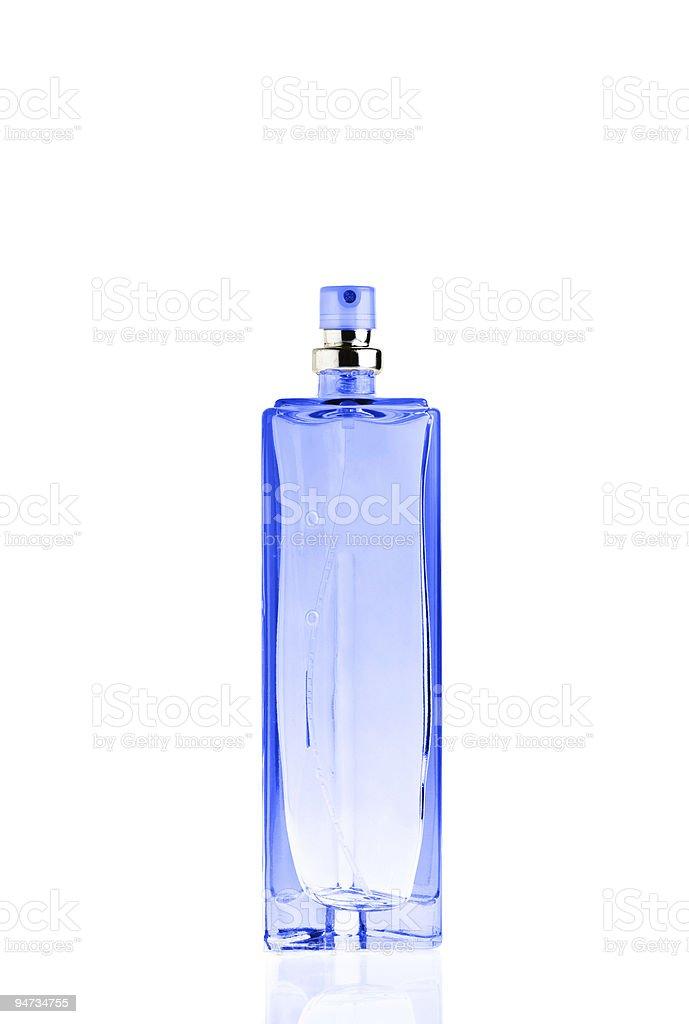 bottle of perfume isolated on white royalty-free stock photo