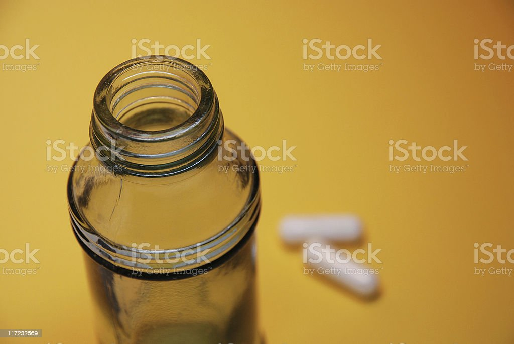 Bottle of pills royalty-free stock photo