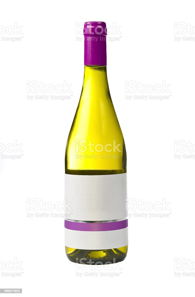 Bottle of quality wine with blank label royalty-free stock photo