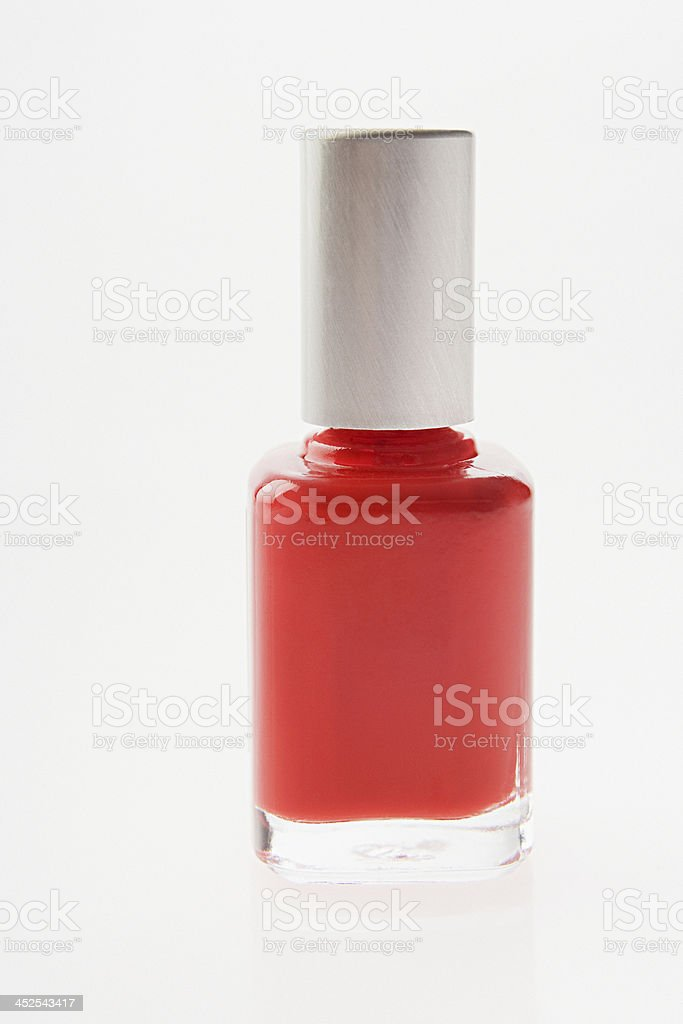 Bottle of red nail varnish royalty-free stock photo