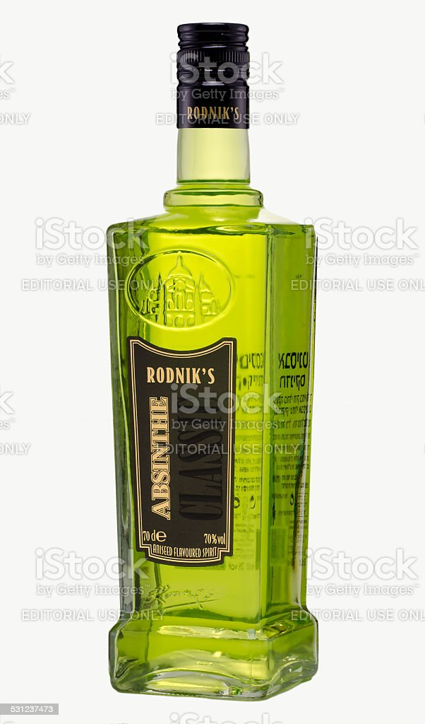 Bottle of  Rodniks Absinthe Classic 70 stock photo