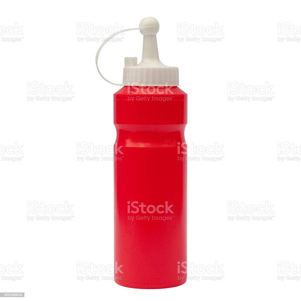 Bottle of sauce. stock photo