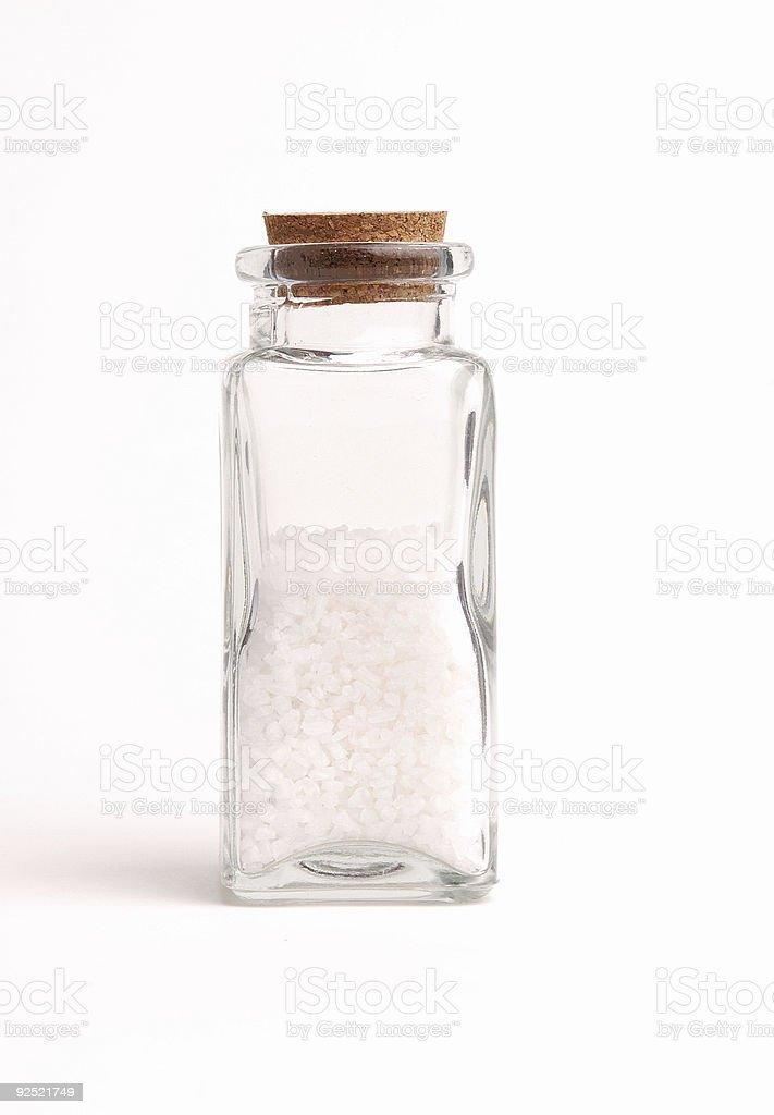 Bottle of Sea Salt royalty-free stock photo