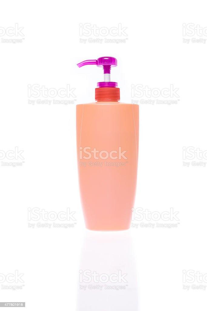 Bottle of shampoo stock photo