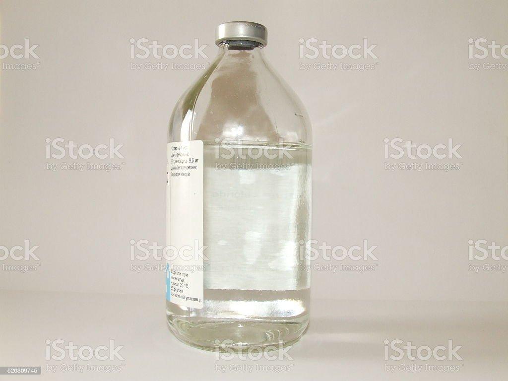 bottle of sodium water stock photo