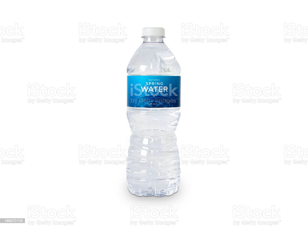 Bottle of Spring Water (fictitious) stock photo