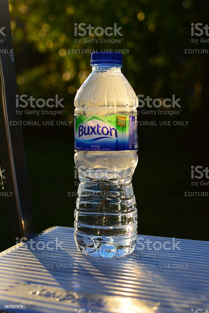 Bottle of Spring Water stock photo